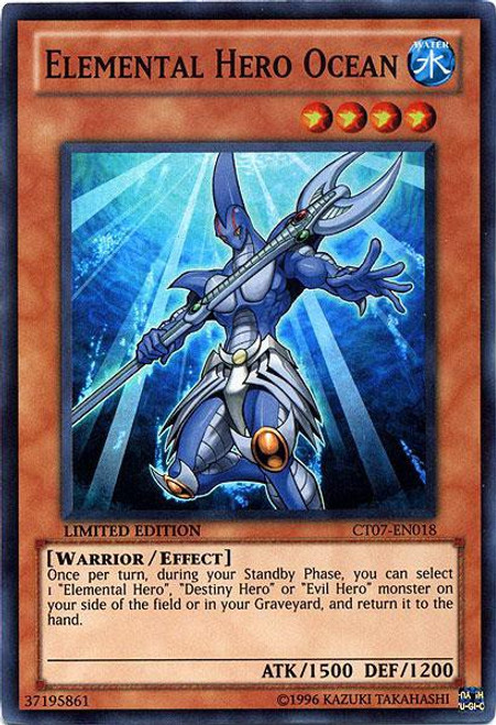 YuGiOh 5D's 2010 Collector Tin Super Rare Elemental Hero Ocean CT07-EN018