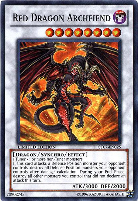YuGiOh 5D's 2010 Collector Tin Super Rare Red Dragon Archfiend CT07-EN025