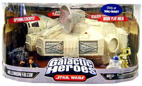 Star Wars A New Hope Galactic Heroes Cinema Scenes Millennium Falcon Exclusive Mini Figure Set [Episode IV]