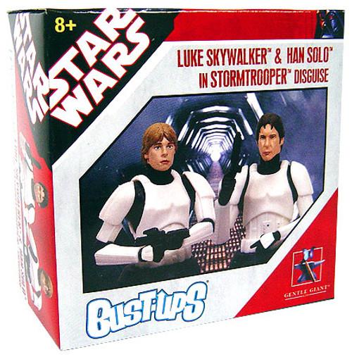 Star Wars Bust-Ups Luke Skywalker & Han Solo in Stormtrooper Disguise Exclusive Micro Bust 2-Pack