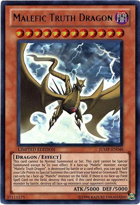 YuGiOh Shonen Jump Ultra Rare Malefic Truth Dragon JUMP-EN048