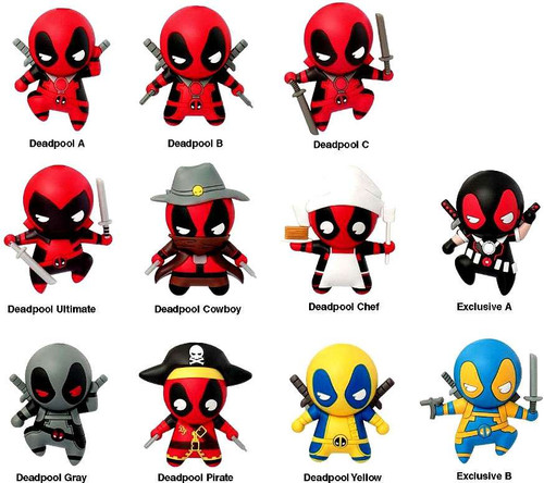 Marvel 3d figural keychain deadpool series 1 mystery pack for Dead pool show in jaipur