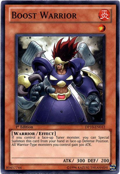 YuGiOh 5D's Duelist Pack Yusei Fudo 3 Super Rare Boost Warrior DP10-EN012