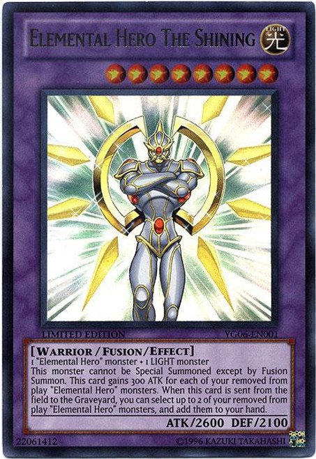 YuGiOh Shonen Jump Ultra Rare Elemental Hero The Shining YG06-EN001
