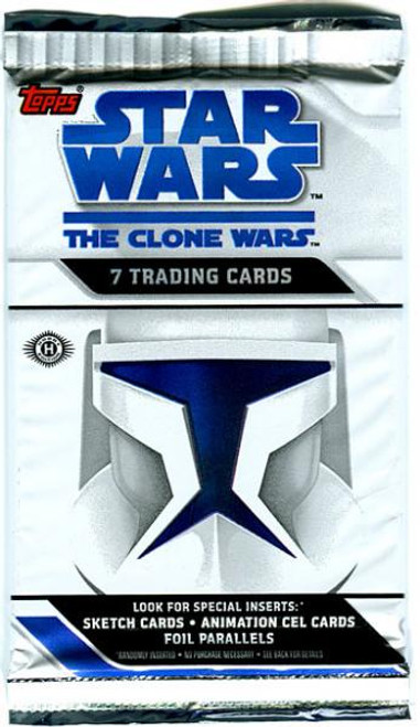 Star Wars The Clone Wars Clone Wars Animated Series Trading Card Pack
