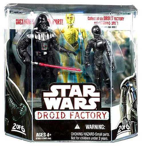 Star Wars Empire Strikes Back Droid Factory 2008 Darth Vader & K-3PX Exclusive Action Figure 2-Pack
