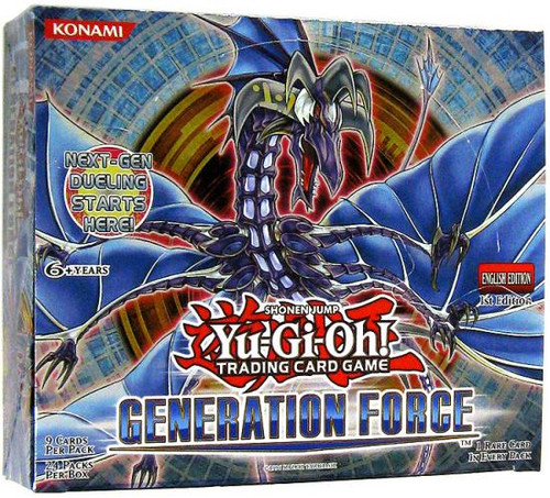 YuGiOh Generation Force Booster Box [24 Packs] [Sealed]