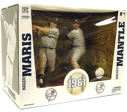 McFarlane Toys MLB New York Yankees Cooperstown Collection Roger Maris & Mickey Mantle 1961 Action Figure 2-Pack
