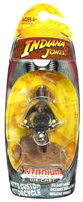Indiana Jones Kingdom of the Crystal Skull Titanium Series Mutt's Custom Motorcycle Diecast Vehicle