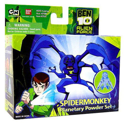 Ben 10 Alien Force Spidermonkey Planetary Powder Set