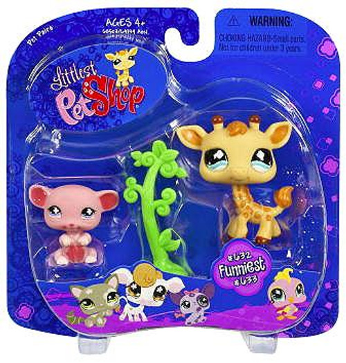 Littlest Pet Shop Pet Pairs Giraffe & Pink Mouse Figure 2-Pack #632, 633