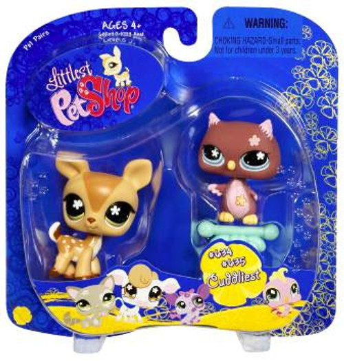 Littlest Pet Shop Pet Pairs Deer & Owl Figure 2-Pack #634, 635