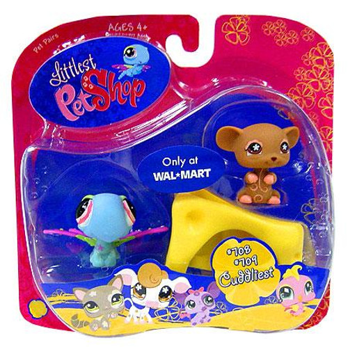 Littlest Pet Shop Dragonfly & Brown Mouse Exclusive Figure 2-Pack #708, 709 [Cheese]