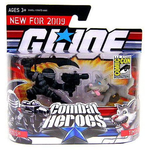 GI Joe Combat Heroes Snake Eyes & Timber the Wolf Exclusive Mini Figure 2-Pack