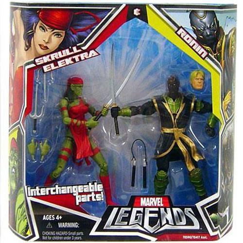 Marvel Legends Skrull Elektra & Ronin Action Figure 2-Pack