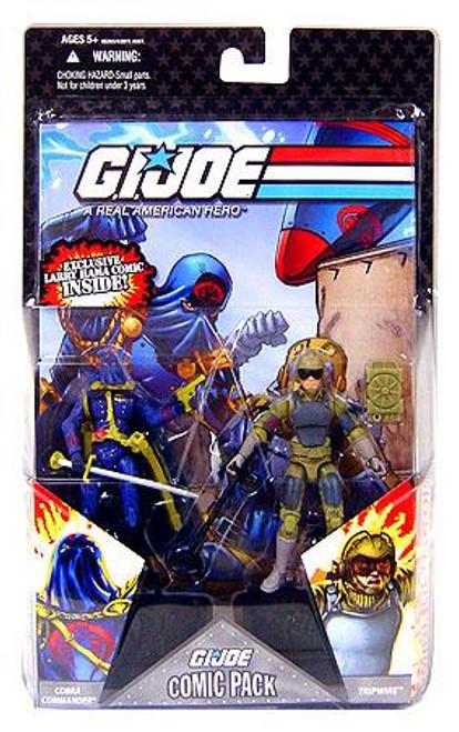 GI Joe 25th Anniversary Wave 5 Comic Pack Cobra Commander & Tripwire Action Figure 2-Pack