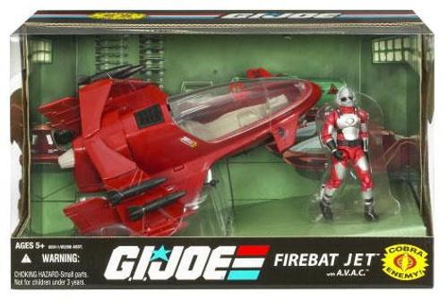 GI Joe 25th Anniversary FireBat Jet Action Figure Vehicle