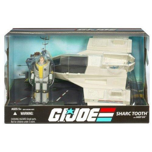 GI Joe 25th Anniversary Sharc Tooth with Deep Six Action Figure Vehicle