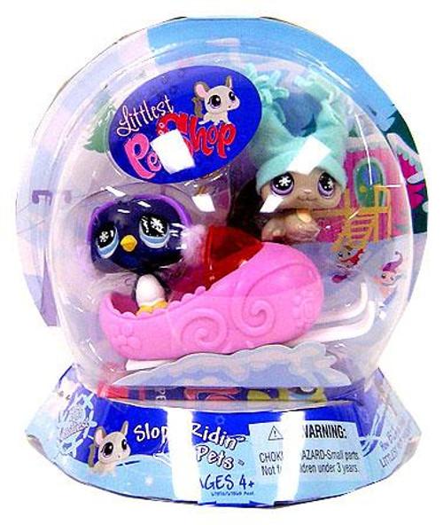 Littlest Pet Shop Chilliest Pet Pair Chinchilla & Penguin Figure 2-Pack [Slope Ridin' Pets]