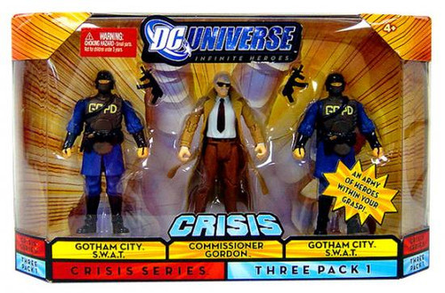 DC Universe Crisis Infinite Heroes Commissioner Gordon & Gotham City S.W.A.T Action Figures #1