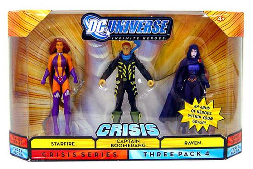 DC Universe Crisis Infinite Heroes Starfire, Captain Boomerang & Raven Action Figures #4