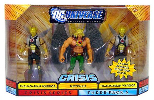 DC Universe Crisis Infinite Heroes Hawkman & 2 Thangarian Warriors Action Figures #6