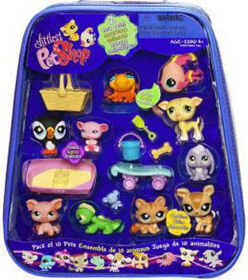 Littlest Pet Shop Pack of 10 Pets Exclusive Figure Set