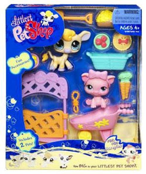 Littlest Pet Shop Cow & Pig Figure 2-Pack