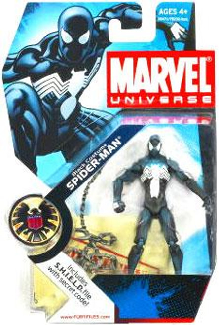 Marvel Universe Series 3 Black Costume Spider-Man Action Figure #18