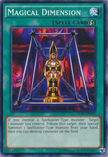 YuGiOh 5D's Structure Deck: Spellcaster's Command Common Magical Dimension SDSC-EN032
