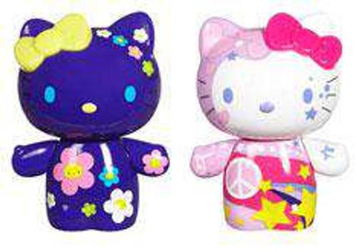 Hello Kitty Urban Vinyl Peace & Love Kitty & Flower Power Mimmy Vinyl Figure 2-Pack