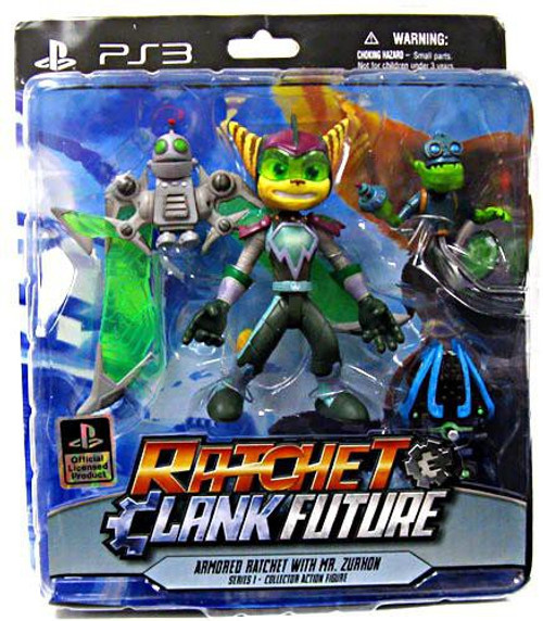 Ratchet and Clank Future Series 1 Armored Ratchet & Mr. Zurkon Action Figure 2-Pack