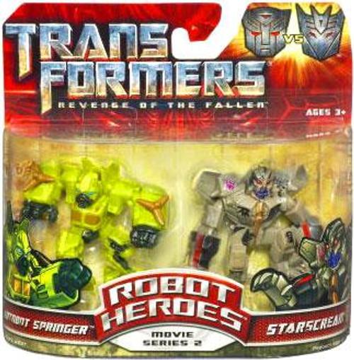 Transformers Revenge of the Fallen Robot Heroes Movie Series 2 Starscream vs. Autobot Springer Figure 2-Pack