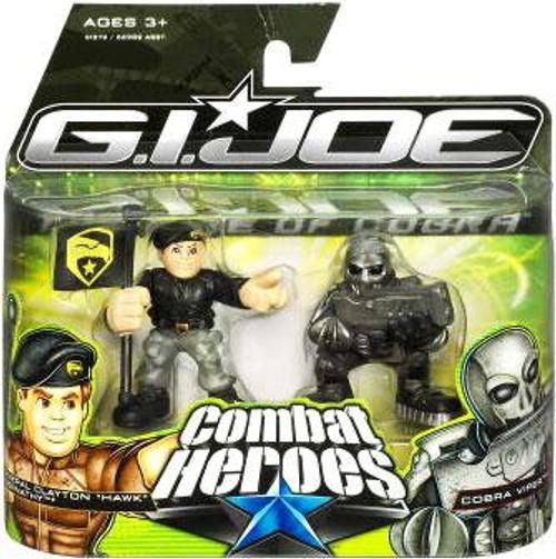 GI Joe The Rise of Cobra Combat Heroes General Clayton Hawk Abernathy & Cobra Viper Mini Figure 2-Pack