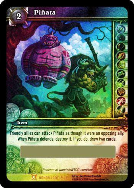 World of Warcraft Trading Card Game Fields of Honor Legendary Loot Pinata #2