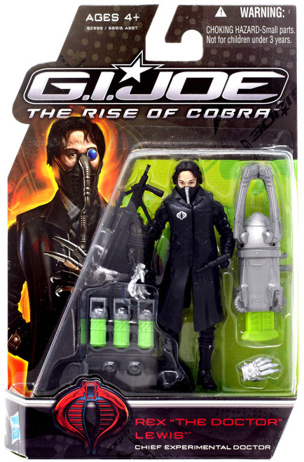 "GI Joe The Rise of Cobra Rex ""The Doctor"" Lewis Action Figure [Black Coat]"