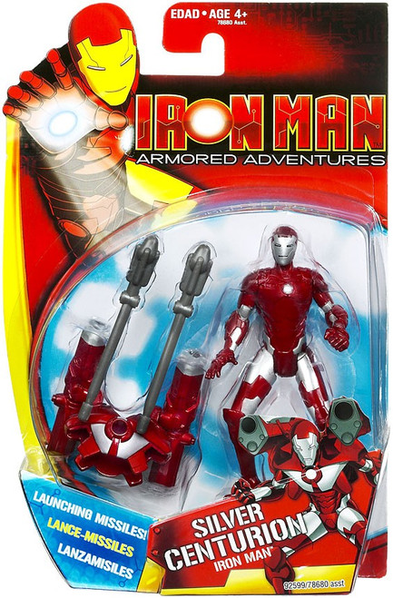 Armored Adventures Silver Centurion Iron Man Action Figure