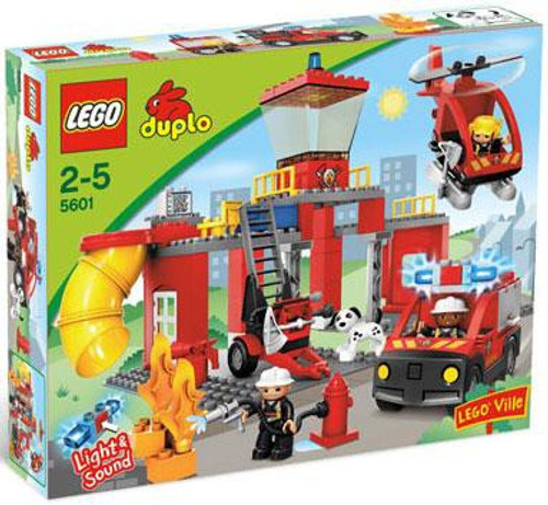 Duplo Lego Ville Fire Station Set #5601
