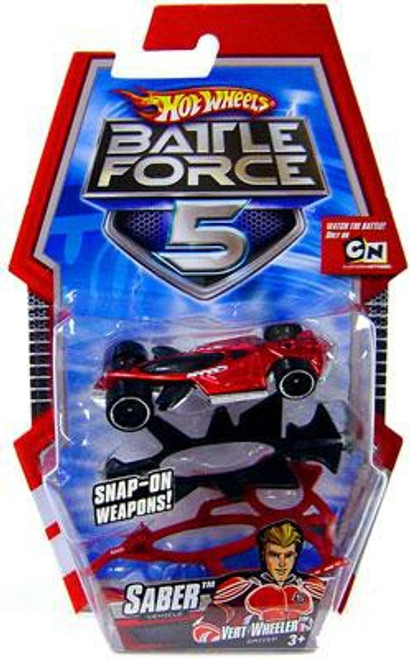 Hot Wheels Battle Force 5 Saber 1/6 Diecast Vehicle [With Armor]