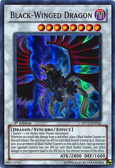 YuGiOh 5D's Duelist Pack Crow Super Rare Black-Winged Dragon DP11-EN016