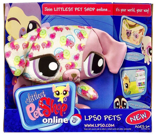 Littlest Pet Shop Online LPSO Pets Dog Plush [Pink Swirls]