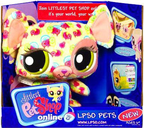 Littlest Pet Shop Online LPSO Pets Mouse Plush [Pink Swirls]