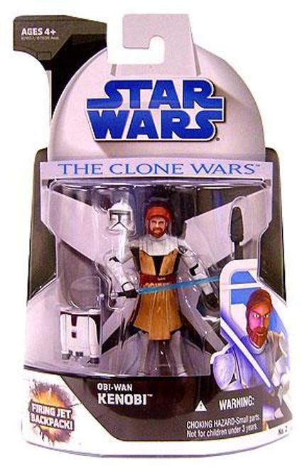 Star Wars The Clone Wars Clone Wars 2008 Obi-Wan Kenobi Action Figure #2