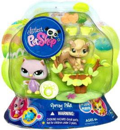 Littlest Pet Shop Spring Pets Owl & Squirrel Figure 2-Pack