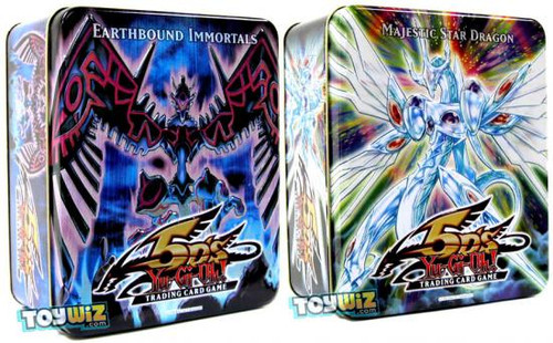 YuGiOh 5D's 2009 Collector Tins Series 2 Earthbound Immortals & Majestic Star Dragon Collector Tins [Sealed]