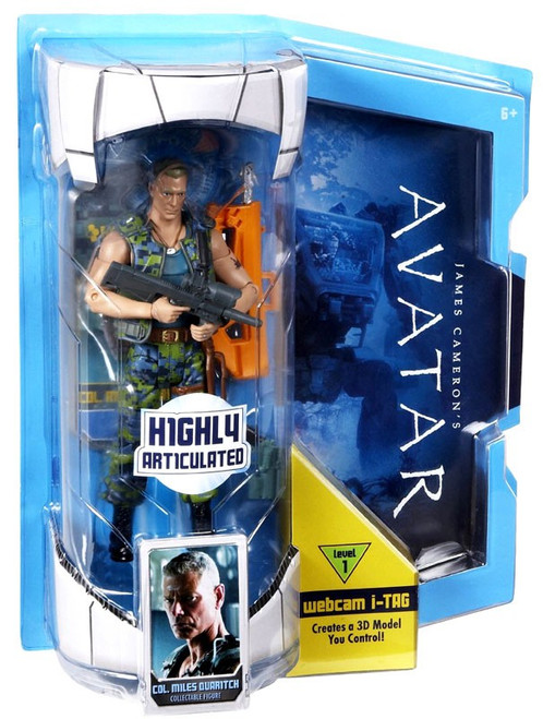 James Cameron's Avatar Deluxe Cololen Miles Quaritch Action Figure