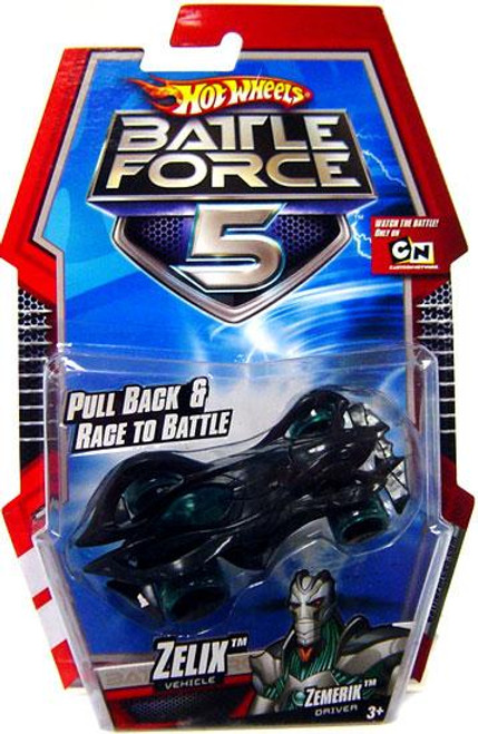Hot Wheels Battle Force 5 Pull Back Zelix 1/6 Diecast Vehicle