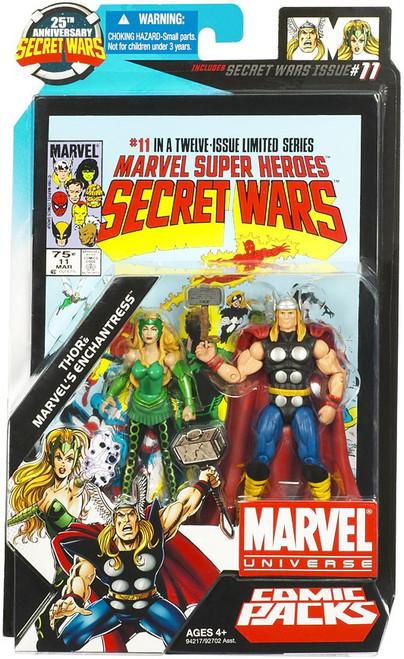 Marvel Universe 25th Anniversary Secret Wars Comic Packs Thor & Marvel's Enchantress Action Figure 2-Pack #11