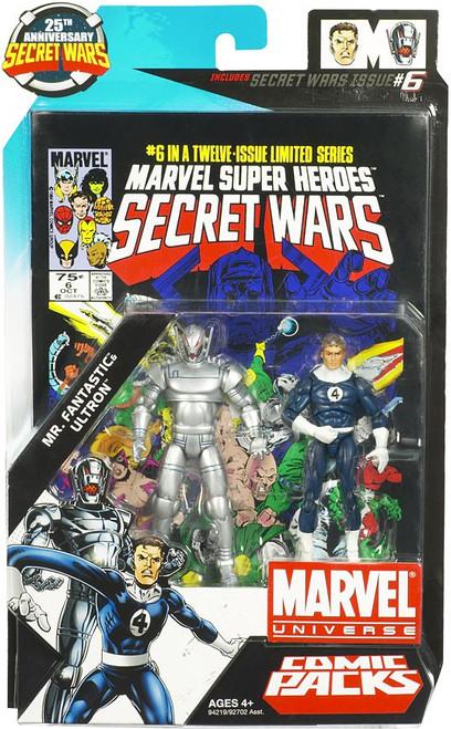 Marvel Universe 25th Anniversary Secret Wars Comic Packs Mr. Fantastic & Ultron Action Figure 2-Pack #6