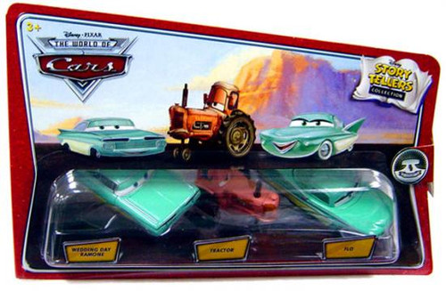 Disney Cars The World of Cars Story Tellers Wedding Day Ramone, Tractor & Flo Diecast Car 3-Pack